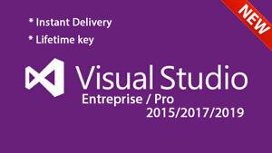 Visual Studio Enterprise/Pro 2019/2017/2015 - Unlimited PC's - Lifetime License