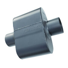 """Flowmaster Super 10 Series Muffler 2.5"""" Inlet/Outlet 6.5"""" Long 9"""" Wide Stainless"""