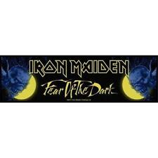 OFFICIAL LICENSED - IRON MAIDEN - FEAR OF THE DARK SEW ON STRIP PATCH METAL