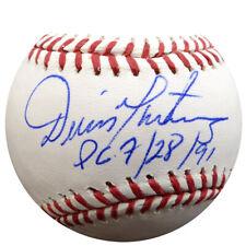 "DENNIS DENNY MARTINEZ AUTOGRAPHED MLB BASEBALL ORIOLES ""PG 7/28/91"" PSA 107870"