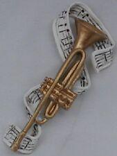 2 pcs. Trumpet Polyresin Music Instrument Refrigerator Magnet