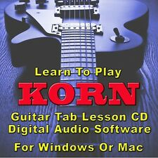 Korn Guitar Tab Lesson Cd Software - 116 Songs