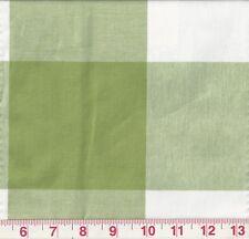 Green White Large Check P Kaufmann Drapery Upholstery Fabric Call Me Kiwi