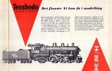 catalogo TENSHODO Det finaste Ni kan få i modelltåg 1961 RR Hobby 1/87  SV  aa