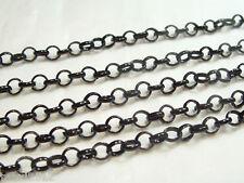 2 metres x TRUE BLACK Belcher Chain - BNChain10