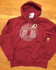 Washington Redskins Hoodie Men's Medium Nwt Full Zip Vintage Look