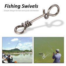50Pcs Quick Change Connection Clip Tackle Swivels Matt Carp Fishing Rig Link