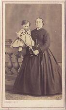 Mère et enfant Léon Regimbart Paris Cdv Vintage albumine ca 1865