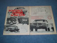 "1971 Pontiac Tempest GT-37 Vintage Info Article ""Pontiac's Answer to the GTO"""