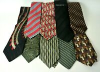 Lot of 9 Men's Assorted Multi-Color Dress Neck Ties Various Patterns Designer