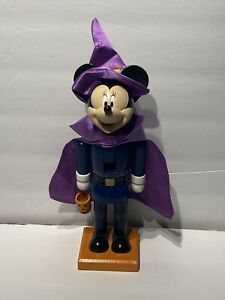 "Disney Minnie Mouse 11"" Wooden Halloween Nutcracker Figurine"