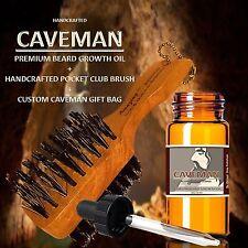 Handcrafted Caveman® BEARD GROWTH OIL + FREE Pocket Beard Brush and Gift Bag IB