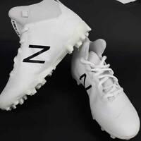 New Balance Boys Football Cleats FREEZJWT White Lace Up Athletic Sports Shoe 4.5
