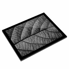 A3 Glass Frame BW - Macro Shot Leaf Nature  #37593