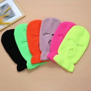 3 Hole Full Face Ski Mask Winter Cap Balaclava Hood Beanie Cap Hats All colours