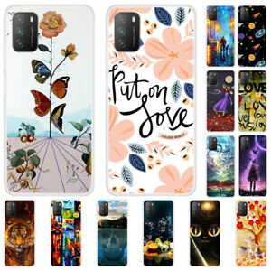 For Xiaomi Poco X3 NFC M3 Mi 10T Painted Soft Silicone Rubber TPU Case Cover