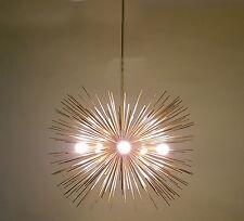 Modern Brass 5 Bulbs Sphere Urchin Chandelier Light Fixture - Sputnik Fixture