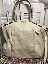Coach Madison Leather Lindsey Parchment Convertible Crossbody Shoulder Bag18641