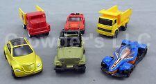 Set of 6 Miniature Cars & Trucks: Hot Wheels Matchbox Maisto Jeep Dump Truck F1