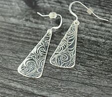 Handcrafted Sterling Silver Textured Earrings