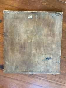"""LARGE ANTIQUE ONE BOARD WOOD BAKERS END BREAD / CHOPPING / CUTTING BOARD 21""""x23"""""""