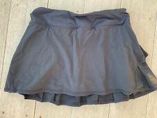 Lululemon Pace Setter Tennis Skirt Skort Womens Size 6 Regular Black Color Euc