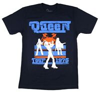 Queen Tour 1976 Live Silhouette Image Blue T Shirt New Official Reissue