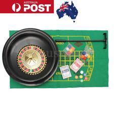 16'' Roulette Wheel Casino Game Table Set Bar BlackJack Rake Layout Deluxe Poker