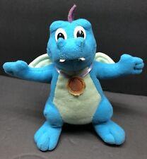 "Dragon Tales Ord Flying Dragons 6"" Blue Plush Flapping Wings 1999 Playskool"