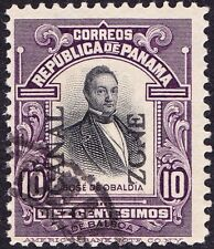 Canal Zone - 1916 - 10 Cents Violet & Black Obaldia Issue #41 F-VF w/ Broken O