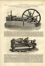 1887 Ruston Proctor Engine Cooper Turret Lathe Smith Coventry