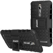 Amzer Dual Layer Hybrid Warrior Case w/ Stand Zenfone 2 ZE551ML ZE550ML - Black