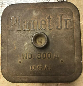 PLANET JR  NO. 300 Seed Planter HOPPER LID with Metal Seed Plate Guide on Rev.