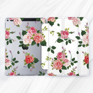 Roses Flowers Girly Floral Case For iPad 10.2 Air 3 Pro 9.7 10.5 12.9 Mini 2 4 5