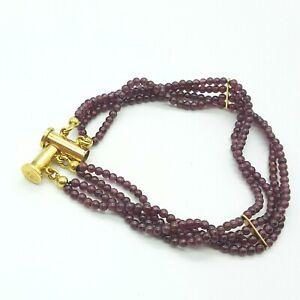 Granat Armband mit 925 Silber verschluss - Silber Vergoldet -  23.5.21