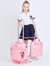 6 Wheels Trolley Girls Backpack Kid Children Detachable School Travel Book Bag