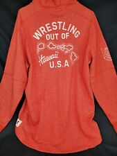 Under Armour Project Rock Wresting Out of Hawaii Red Hoodie Size XL 1326392-839
