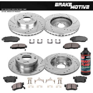 Front & Rear Brake Disc Rotors & Ceramic Pads For HONDA ACCORD COUPE ACURA TSX