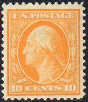 SC#338 - 10c George Washington Perf 12 Wmk 191 MH VF Well Centered