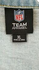 Seattle Seahawks NFL Team Apparel XL Denim Distressed Patched Jacket Women's