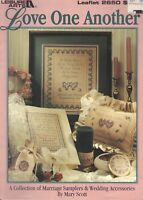 Counted Cross Stitch Patterns Love One Another 3 Projects By Leisure Arts