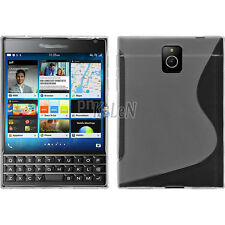 TPU Case For BlackBerry Passport Q30 - Clear S Line Soft Gel Silicone Cover Skin