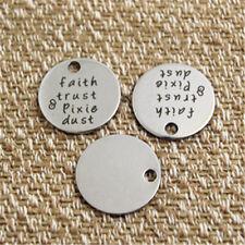 10pcs faith trust pixie dust charm silver tone message charm pendant 20mm