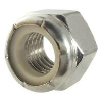 100 Qty 3/8-16 Stainless Steel Nylon Insert Hex Lock Nuts (BCP757)