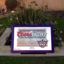 "Coors Light Phoenix Suns NBA Basketball Beer Bar Pub Man Cave Mirror  ""New"""
