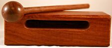 """Small Wood Block with Striker, 5""""x2""""x1 3/4"""", Rosewood, Double Slotted New"""