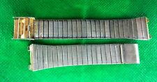 Vintage stainless steel bracelet 2 pieces watch 18 mm old used stock