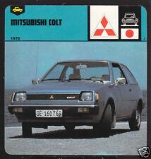 1978 MITSUBISHI COLT Japan Car Picture History CARD