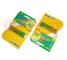 2Pcs Ni-MH 1.2V F6 1400mAh MD CD MP3 Gum Battery of Sony Panasonic Aiwa RP-BP61