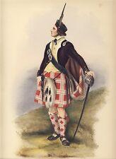 MENZIES ORIGINAL McIAN HAND COLORED LITHO CLANS SCOTTISH HIGHLANDS 1845